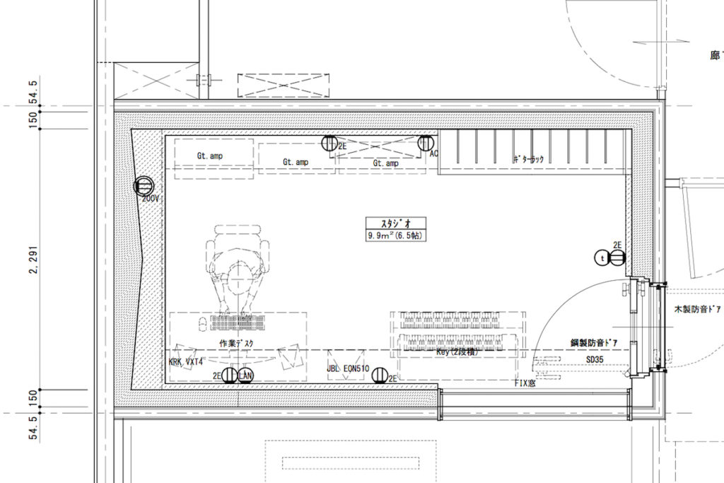 ギター部屋計画 (1)